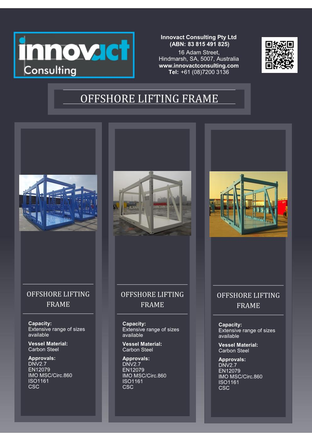 Flyer OShore Lifting Frames