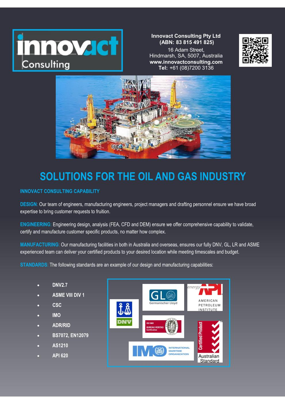 Flyer OShore Products Front Page